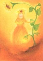 "Kinderpostkarte ""Sonnenblumenfrau"""