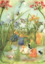 "Kinderpostkarte ""Wurzelkinder am Teich"""