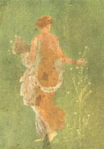 """Postkarte  """"Flora oder Der Frühling"""" Ausschnitt"""
