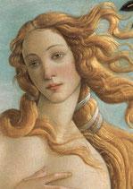 """Postkarte  """"Die Geburt der Venus"""" Ausschnitt"""