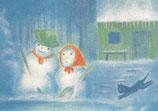 "Kinderpostkarte ""Schneemann / Februar"""