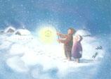 """Kinderpostkarte """"Abend im Schnee"""""""