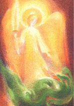 "Kinderpostkarte ""Sankt Michael"" Viriot"