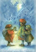 "Kinderpostkarte ""Begegnung im Wald"""