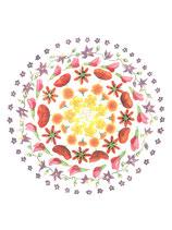 """Doppelkarte """"Blütenteller"""""""
