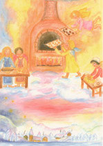 "Kinderpostkarte ""Himmlische Weihnachtsbäckerei"""