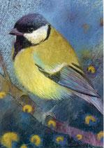 """Postkarte """"Kohlmeise"""" LB"""