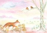 """Kinderpostkarte """"Der Fuchs"""""""