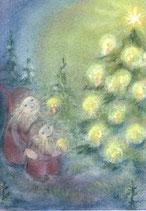 """Kinderpostkarte """"Am Weihnachtsbaum"""" SR"""
