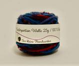 Kinderportion-Wolle  Multicolour Blau Rot Violett
