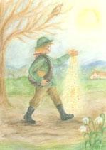 "Kinderpostkarte ""März"""
