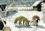 """Kinderpostkarte """"Tomte und der Fuchs"""""""