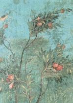 """Postkarte  """"Baum mit Früchten und Vögeln"""" Ausschnitt"""