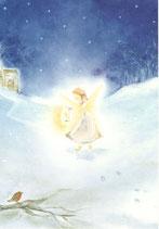 "Kinderpostkarte ""Angel in the snow"""