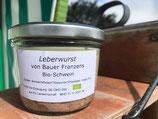 Leberwurst von Bauer Franzens Bioschwein 200g
