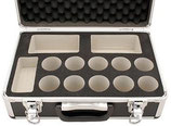 Okularkoffer aus Kunststoff mit aluminiumverstärkten Kanten. Gute Qualität !