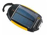 Solarladegerät und Lampe mit umfangreichen Adaptern für unterschiedliche Handys und Smartphones
