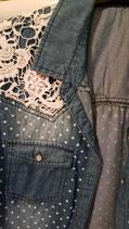 Chemisier dentelle jeans