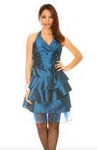 Robe de soirée bleu canard satiné Mod2