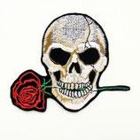 Patch tête de mort Skull avec rose