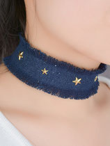 Collier Choker denim