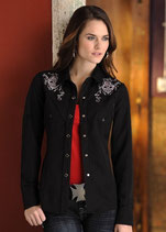 Chemise cowgirl Panhandle Ghost rider skull W