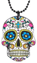 "Collier MÉTAL ""White Mexican Skull"""