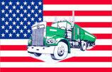 Drapeau Usa Camion Truck