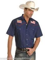 Chemise Ely drapeau patriotique western