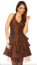 Robe de soirée marron satiné Mod2