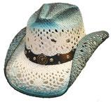 Chapeau bleu clair/Blanc western