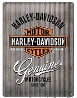 Plaque-Harley-Davidson