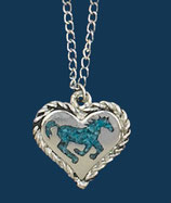 Collier cheval turquoise western