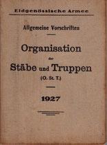 Organisation der Stäbe und Truppen 1927
