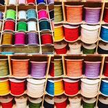Polycord 130 - Polyesterband 1 mm Stärke / 130 m Länge in 32 Farben