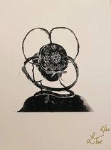 Linogravure - coiffe Dardoup
