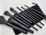 11-teiliges Pinselset schwarz