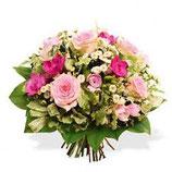 Bouquet rond, fleurs de saison