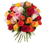 Bouquet rond de roses