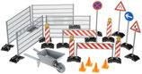 Zubehör Baustellenset: Zäune, Schilder und Pilonen