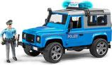 Land Rover Defender Station Wagon Polizeifahrzeug mit Polizist und Ausstattung