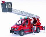 Mercedes Benz Sprinter Feuerwehr mit Drehleiter, Wasserpumpe undLightand Sound Module (trucks) inkl. Batterie