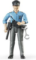 Polizist mit hellem Hauttyp und Zubehör