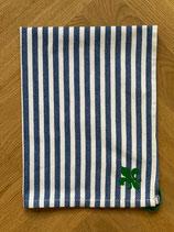 Handtuch Baumwolle blau-weiß gestreift