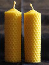 Gewickelt Bienenwachskerze Stumpen klein