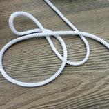 Gestrickte Kordel 4,5mm weiß 01