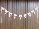 Individuelle Girlande, Hochzeits-Wimpelkette in pink, personalisierbare Girlande für Taufe, glitzernde Wimpel für Babyparty