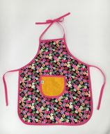 Kinderschürze (ca.für 1,5- bis 4-Jährige) - bunte Blumen/Herzen