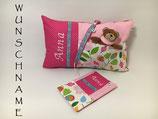 Geburts-Set rosa/pink Blume