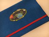 U-Heft-Hülle blau Filz
